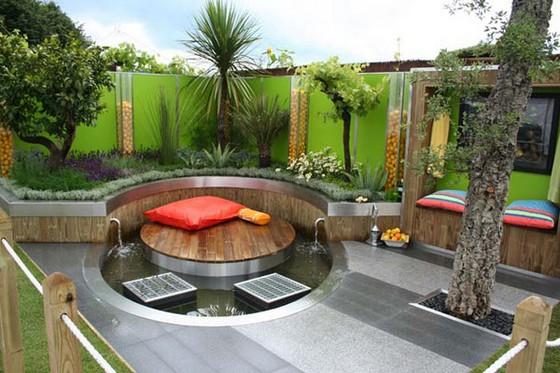 imagens jardins modernos : imagens jardins modernos:Jardins pequenos com água