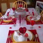 decoração de mesa para o Dia dos Namorados