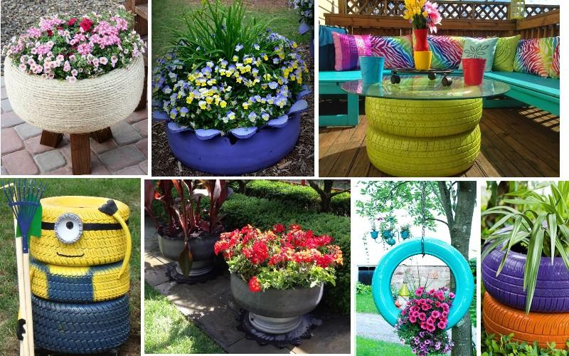 neumáticos reciclagem jardin