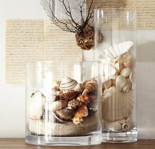 decorar potes de vidro