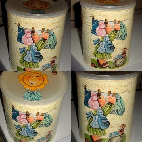 Como decorar latas de leite