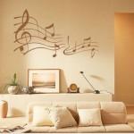 Decoração com notas musicais