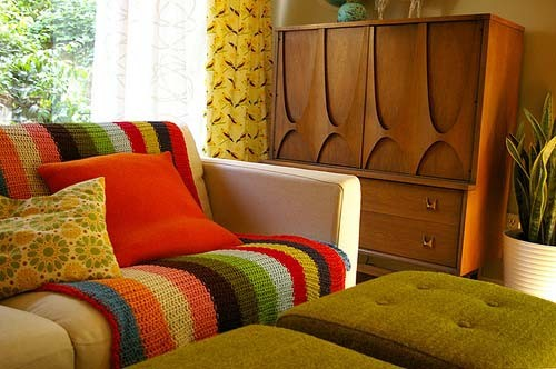 Decora o de sof s com mantas - Manta para sofa ...