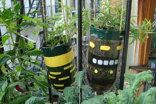 Vasos para plantas reciclados